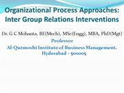 Inter Group Relations Interventions