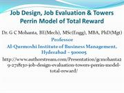 Job Design,Evaluation,Towers Perrin Model,Total Reward