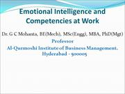 Emotional Intelligence and Competencies at Work