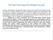 The First Three Days Of A Disaster Survival