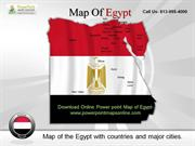 Online Download Online Powerpoint Map of Egypt