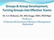 Groups_Group Dev_Turning Groups into Effective Teams