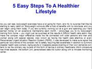 5 Easy Steps To A Healthier Lifestyle