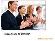 introduction to informatica- informatica training in chennai