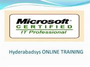 Best MCITP Online Training | MCITP Training with Real time Expert.