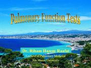 Pulmonary Function Test