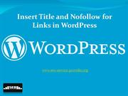 Insert Title and Nofollow for Links in WordPress