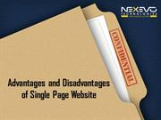 Advantage and Disadvantage of a Single Page Website
