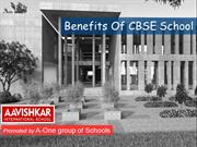 Benefits of CBSE school