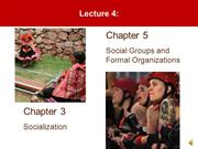 Lecture 4- Socialization and Groups
