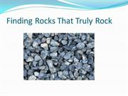 Finding Rocks That Truly Rock
