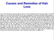 Causes and Remedies of Hair Loss