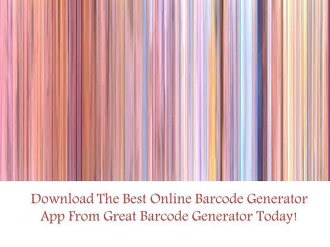 Download the Best Online Barcode Generator App from Great Barcode