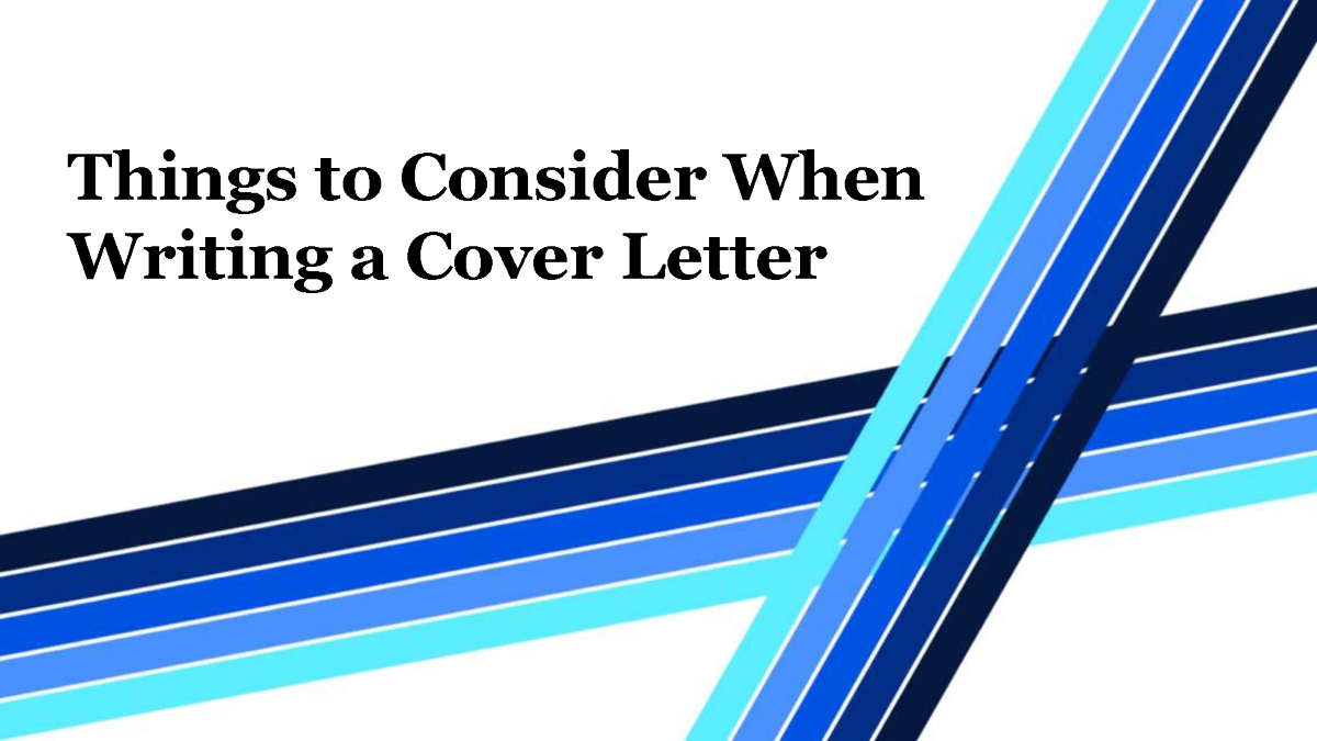 Things to consider when writing a cover letter authorstream for Things to write in a cover letter