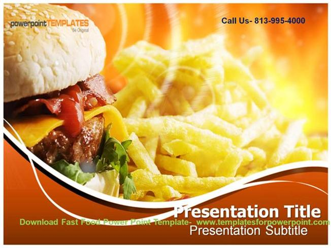 Powerpoint template for harmful effect of fast food authorstream online downaload fast food powerpoint template toneelgroepblik Images