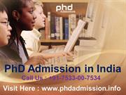 Admission  in PhD Education @ +91-7533-00-7534
