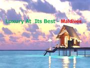 Affordable Hotels in Maldives PPT by Holidayhops
