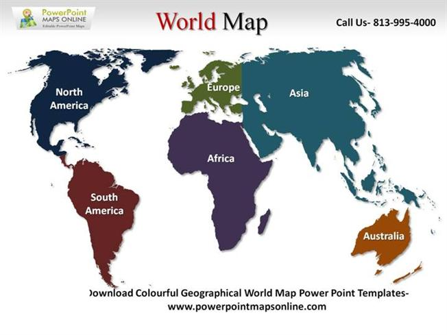 world map for power point