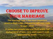 Choose to Improve Your Marriage