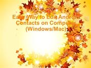 Android Contacts Editor - How to Edit Android Phone Contacts on Comput
