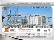 Distribution transformer manufacturer in India