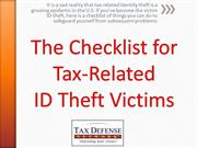 A Checklist for Tax Fraud Victims