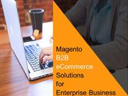 Magento B2B eCommerce Solutions for Enterprise Business