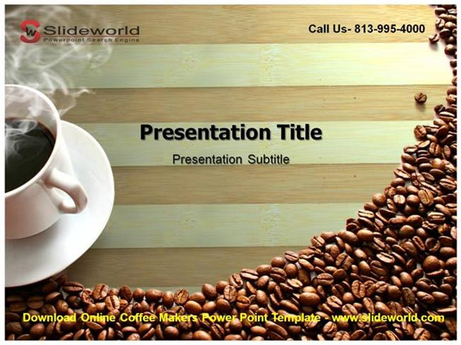 download online coffee makers powerpoint template authorstream