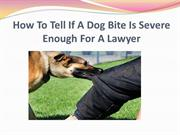 How To Tell If A Dog Bite Is Severe Enough For A Lawyer
