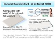 Clamshell Proximity Card - 50 bit format RBH50
