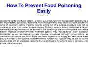 How To Prevent Food Poisoning Easily