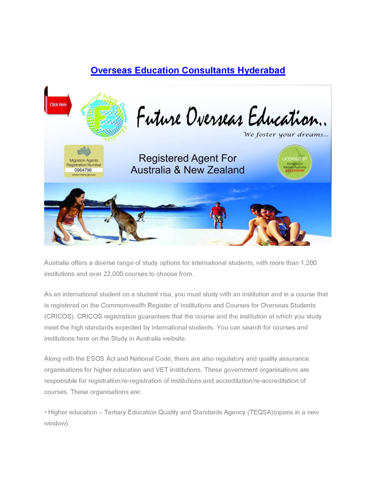 Overseas Education Consultants, Study Abroad Counsellers ...