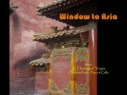 Travel-Window to Asia-A Thousand Years