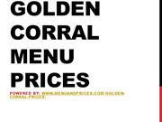 Golden Corral Menu Prices 2016