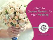 Steps to Choose Wedding Flowers in Thunder Bay