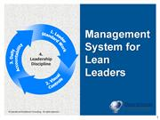 Management System for Lean Leaders