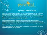 Pyramid Pantomimes Traditional School Shows In UK