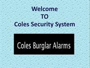 Home Security Alarm Protection  By Coles Burglar Alarms
