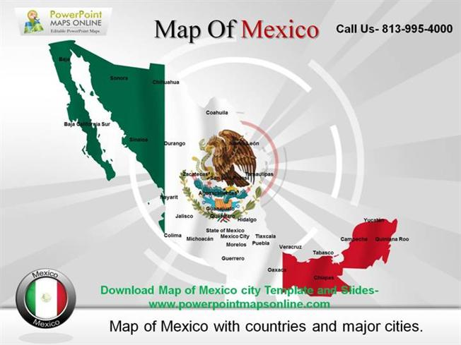 download map of mexico city template and slides authorstream