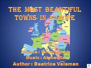 The  most  beautiful towns  in  Europe