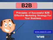 Principles of Successful B2B Effective Marketing Strategy For Business
