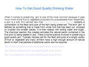 How To Get Good Quality Drinking Water