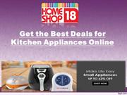 Big Saving offers on Home appliances by Homeshop18