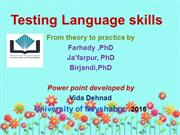 Testing Language Skills chapter one