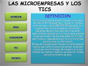 LAS MICROEMPRESAS Y LAS TICS