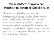 Top advantages of Ayurveda's Panchkarma Treatments in Vile