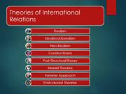 Theories of International Relations PPT