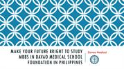 study mbbs in Davao medical school foundation in Philippines |Davao