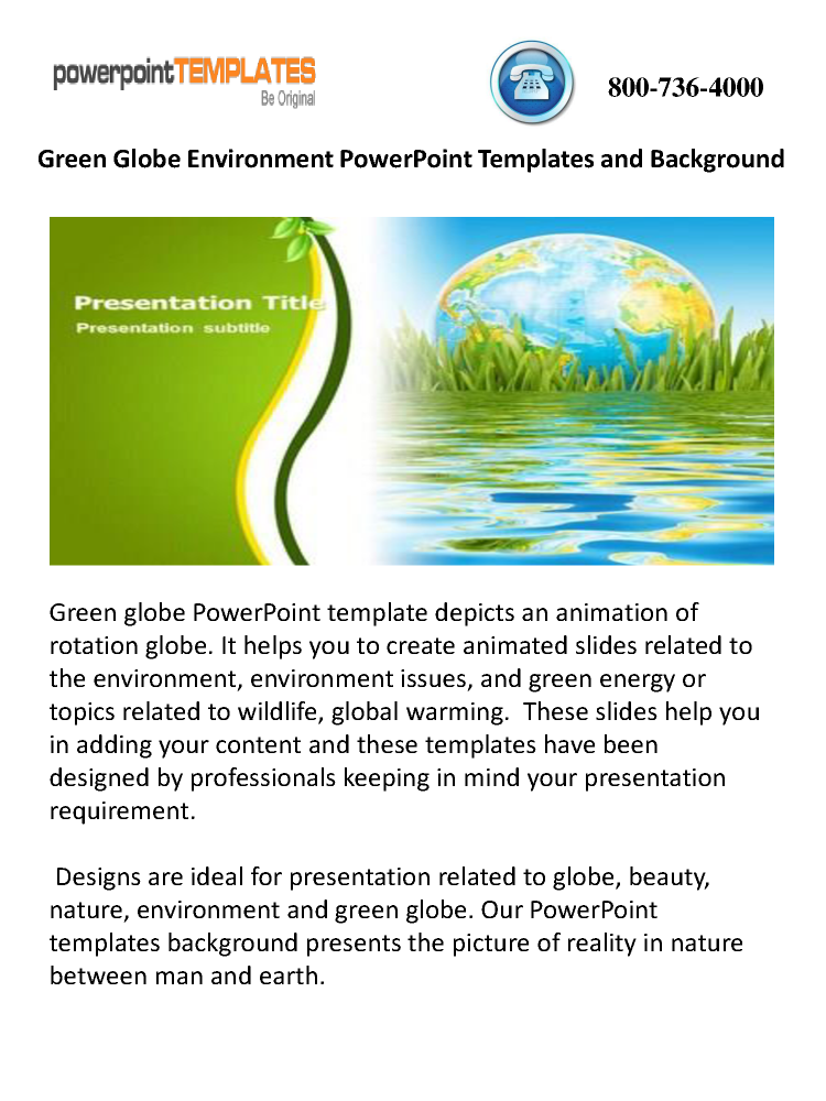 Green globe environment powerpoint templates and background green globe environment powerpoint templates and background authorstream toneelgroepblik Images