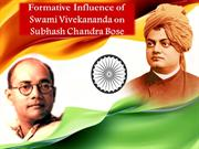 Influence of Swamiji on Netaji